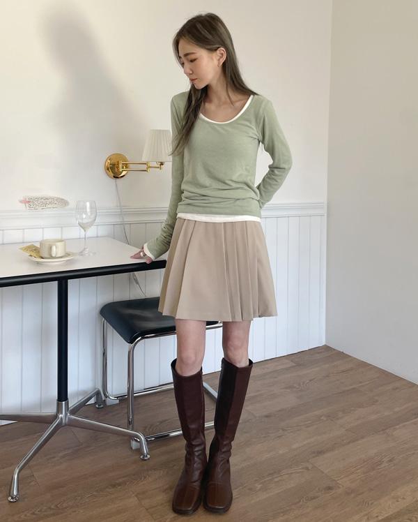 roden pleats mini skirt