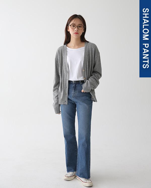 lev wide denim pants (s, m, l)
