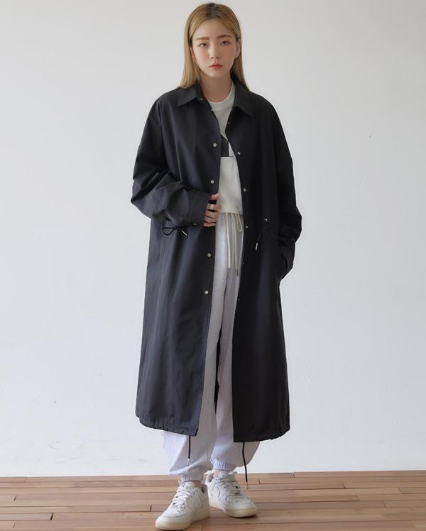 bean long trench coat
