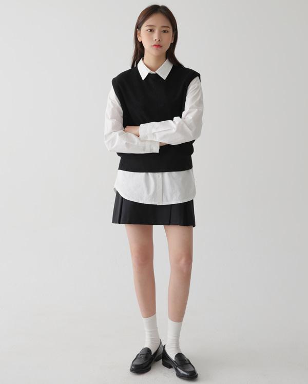 bade round vest knit