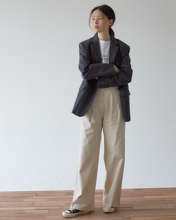 vintage wide cotton pants