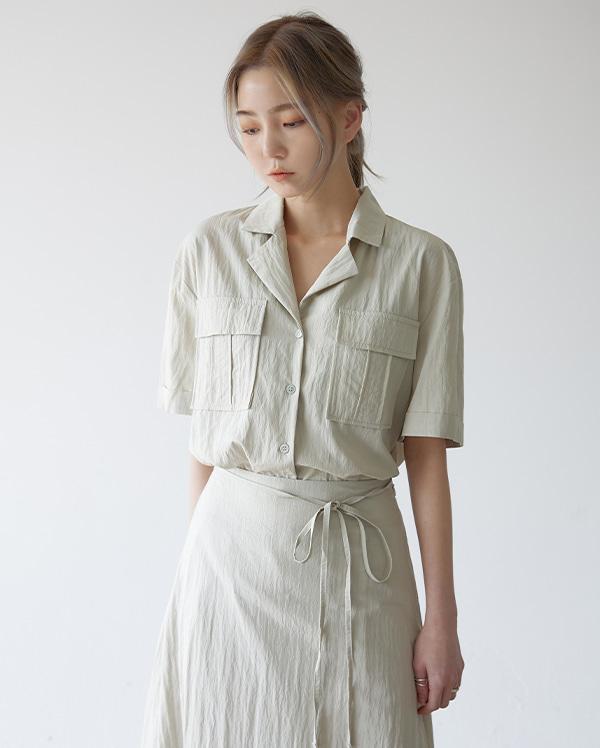 멜번 카라 반팔 셔츠 (3color)
