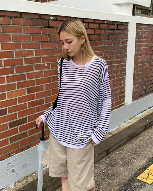 포이 스트라이프 티셔츠 (2color)