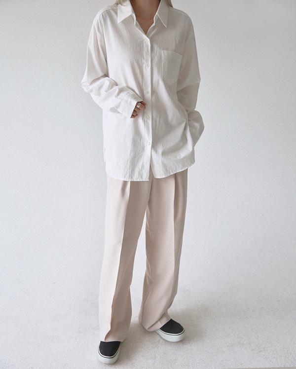 원포켓 베이직 셔츠 (5color)