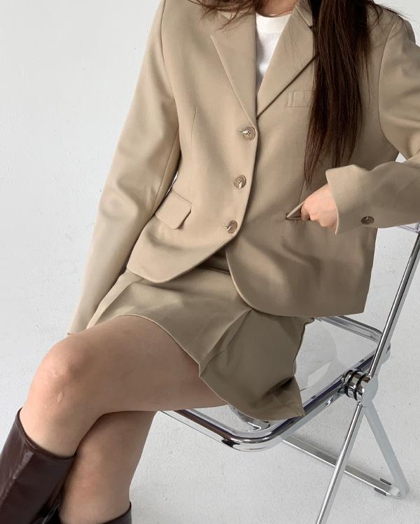 유즈셋업 크롭 자켓 (3color)