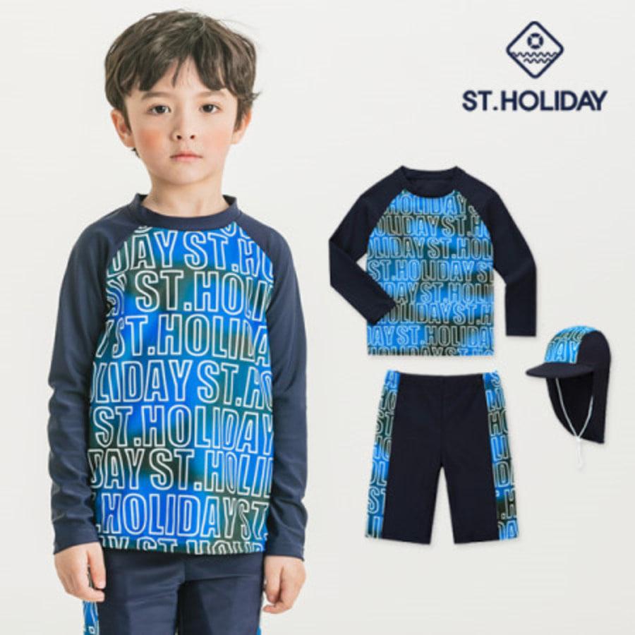 [ST홀리데이]유아동 주니어 래쉬가드 수영복set ST920