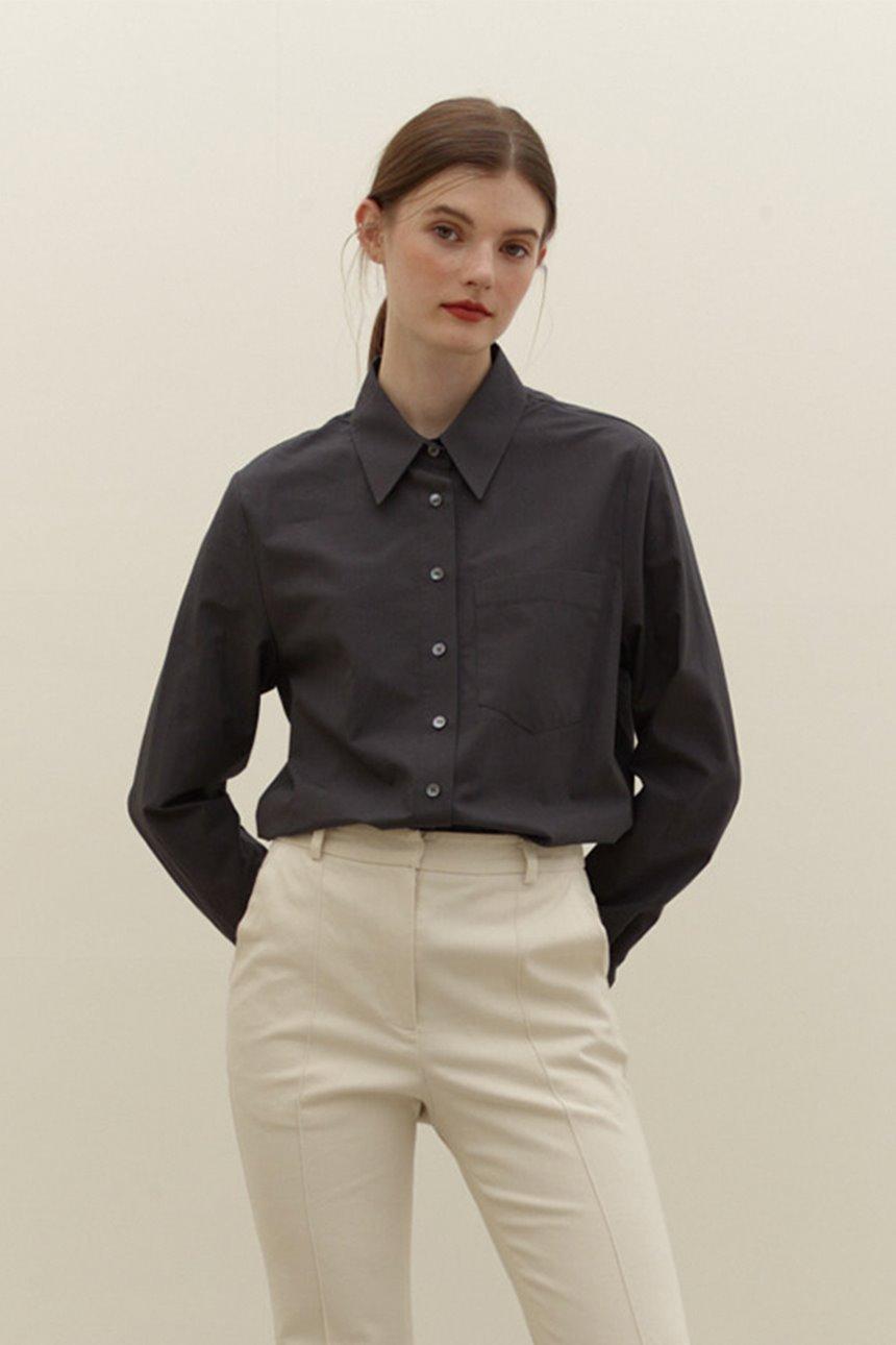 YEOUINARU One pocket basic shirt (Dark gray)