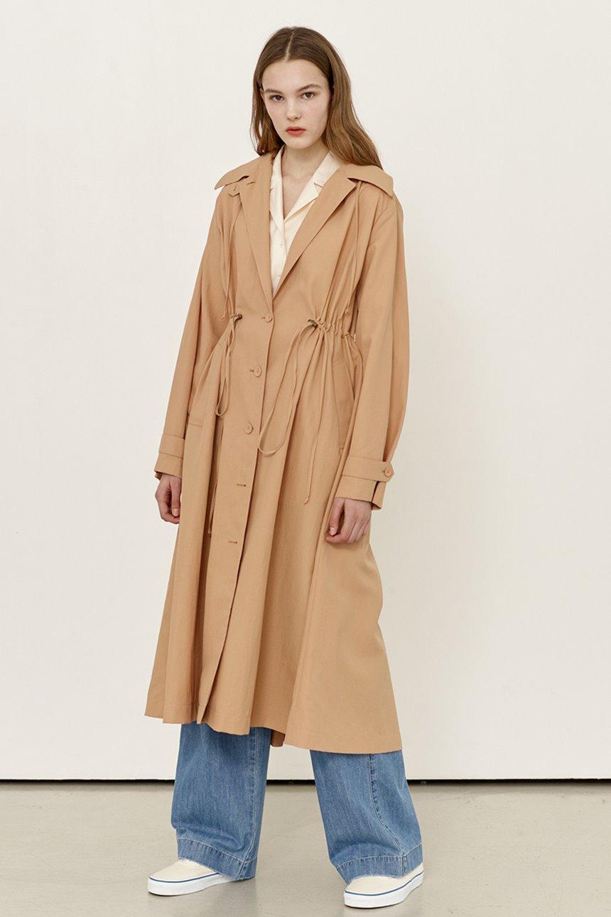[김나영착용]SEONGSAN Safari hoodie coat (Apricot)