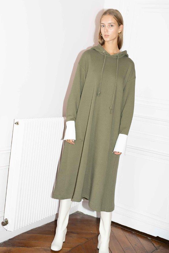 BRISBANE oversized hoodie dress (Olive)