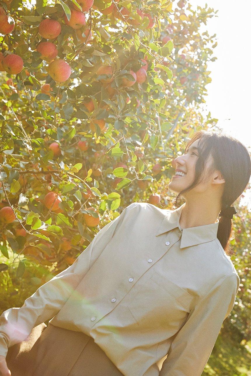 [한소희착용]YEOUINARU One pocket basic shirt (Light mint)