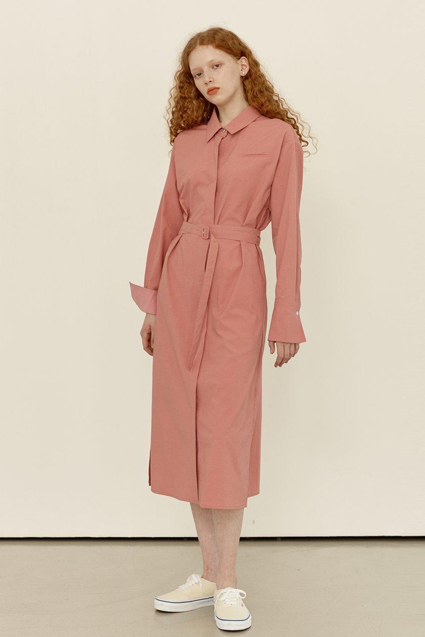 AEWOL Oversized shirt dress (Pink)