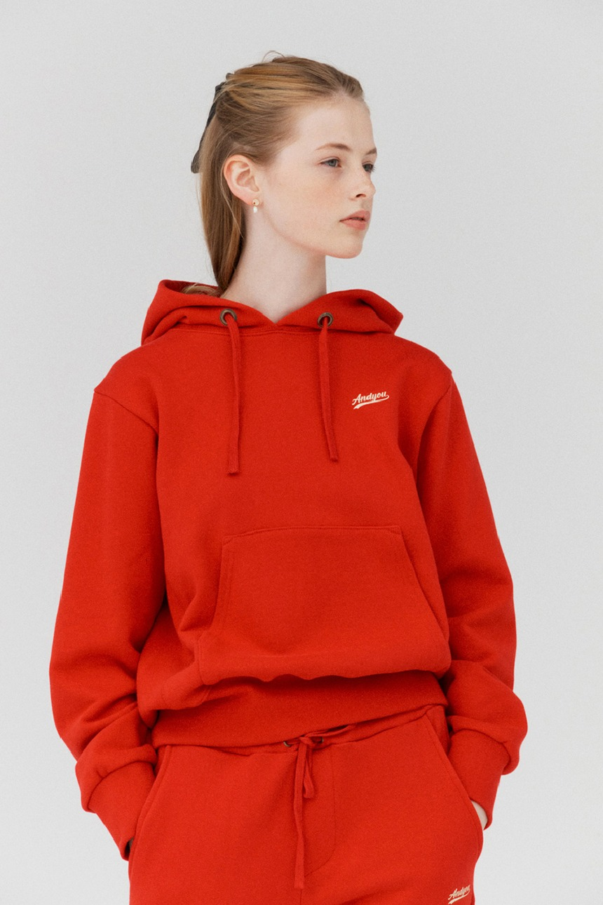 GRIFFITH Logo hoodie (Red)