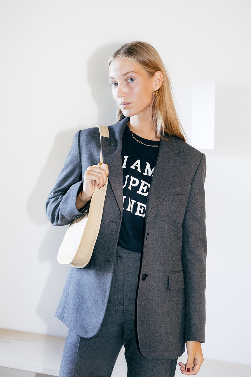 FREDERIK Relaxed fit blazer (Charcoal gray)