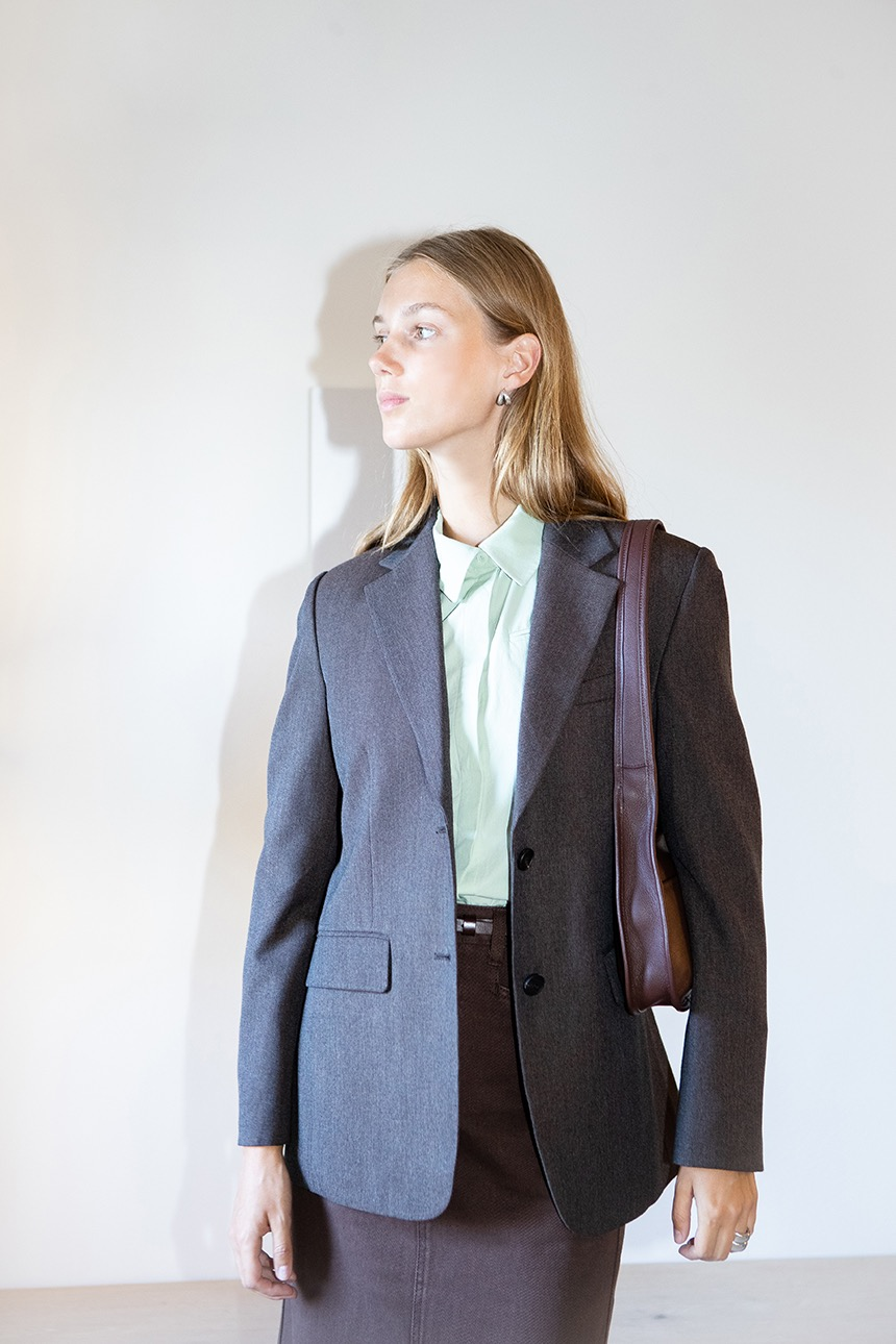 FREDERIK Relaxed fit blazer (Brown)