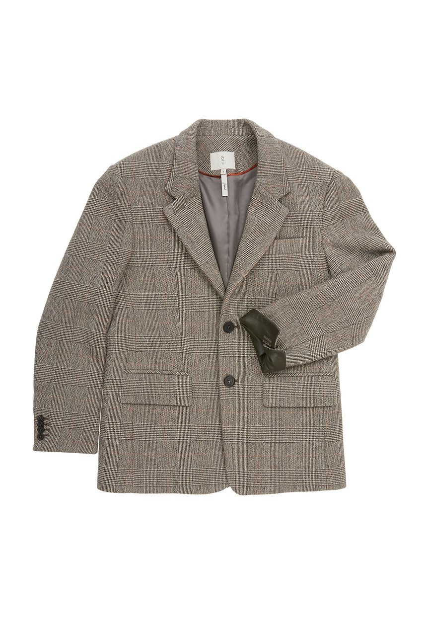YEOUIDO Relaxed fit blazer (Glen check)