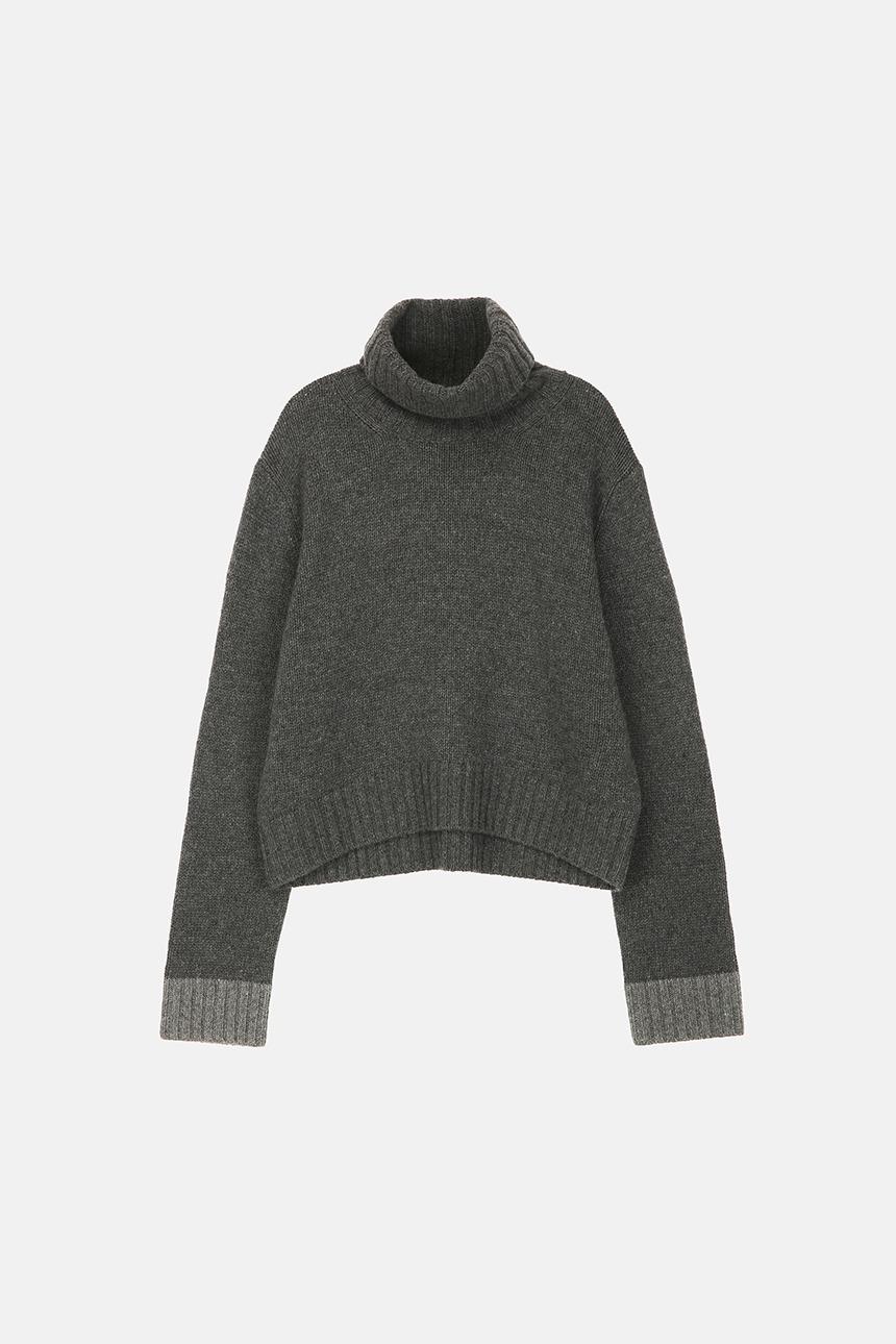 [11/10 예약배송]COMFORT Turtle neck sweater (Charcoal gray)