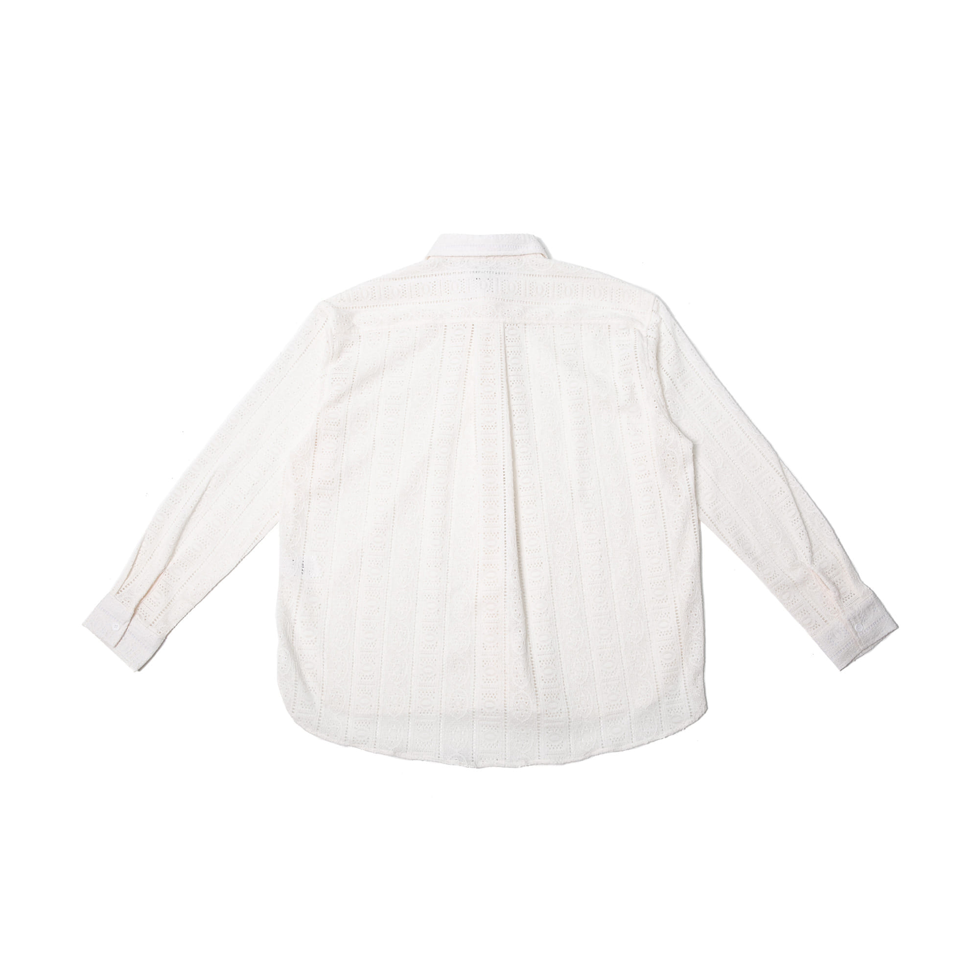 Lace Over Shirt - White