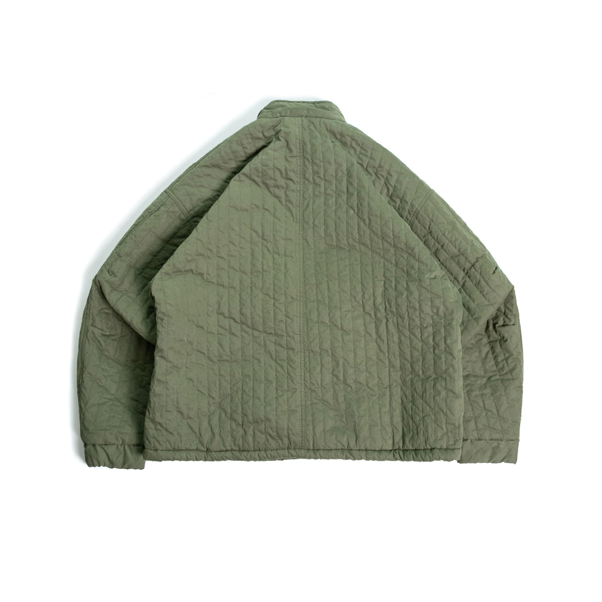 Two Pocket Over Quilting Jacket - Khaki