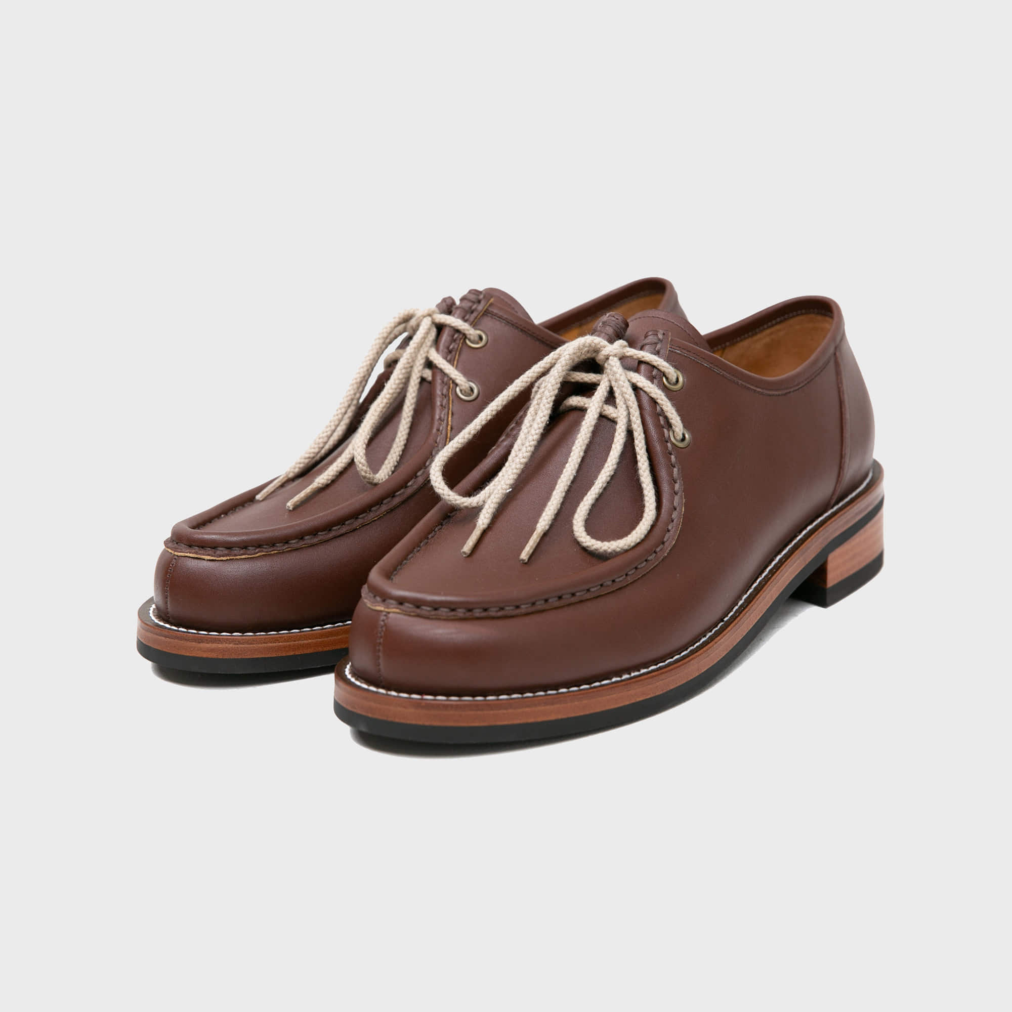[BILLYS&CO X ANGLAN] Tyrolean Derby Shoes - Brown