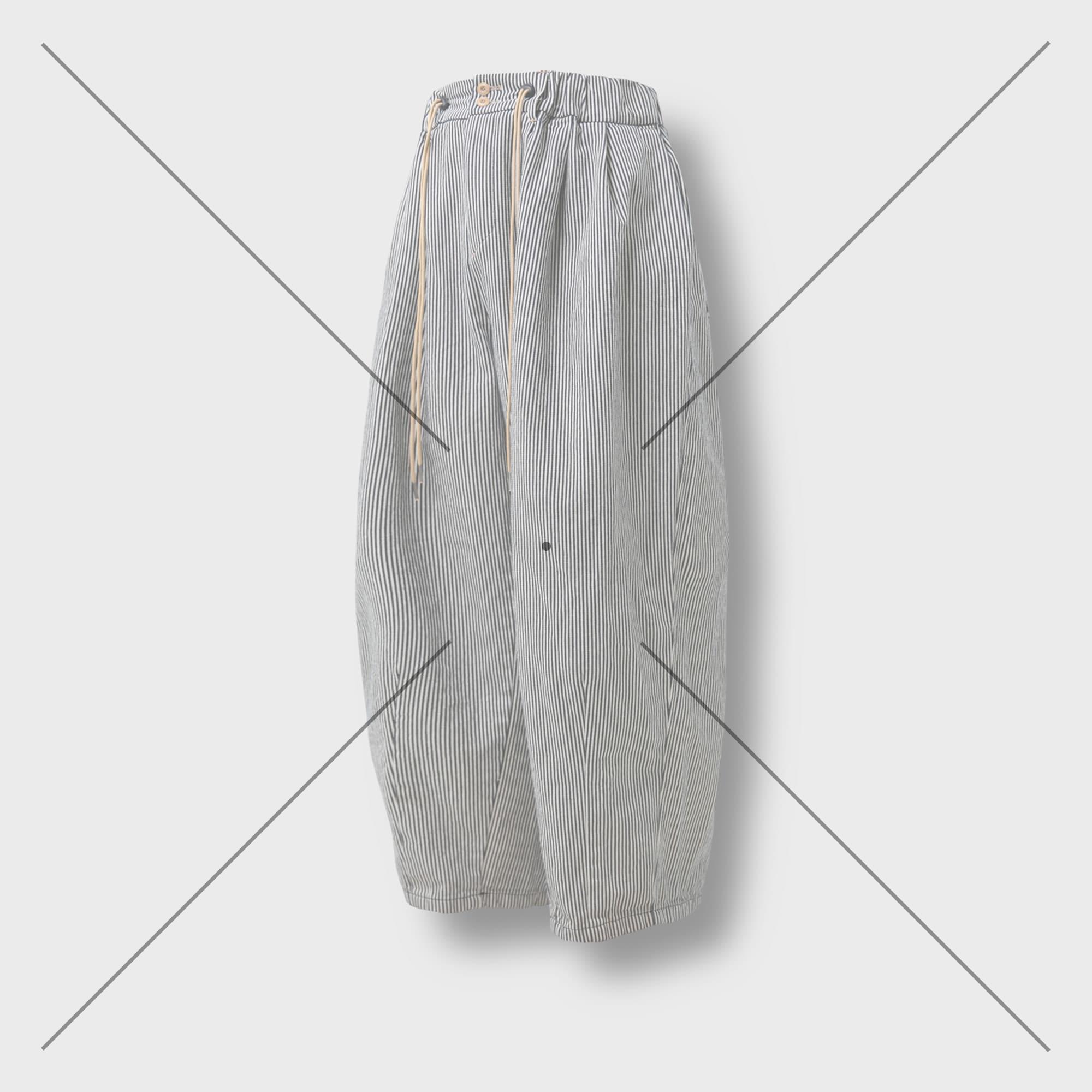 [AG] Raw Denim String Balloon Pants - Hickory