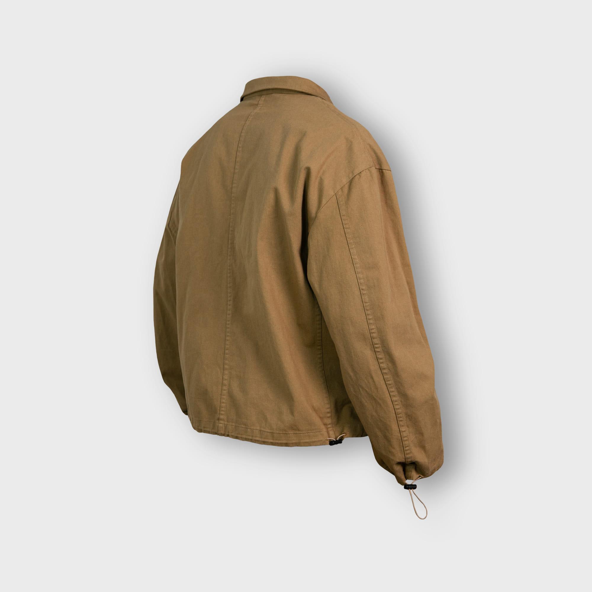 [AG] Twill Cotton String Shirt Jacket - Beige
