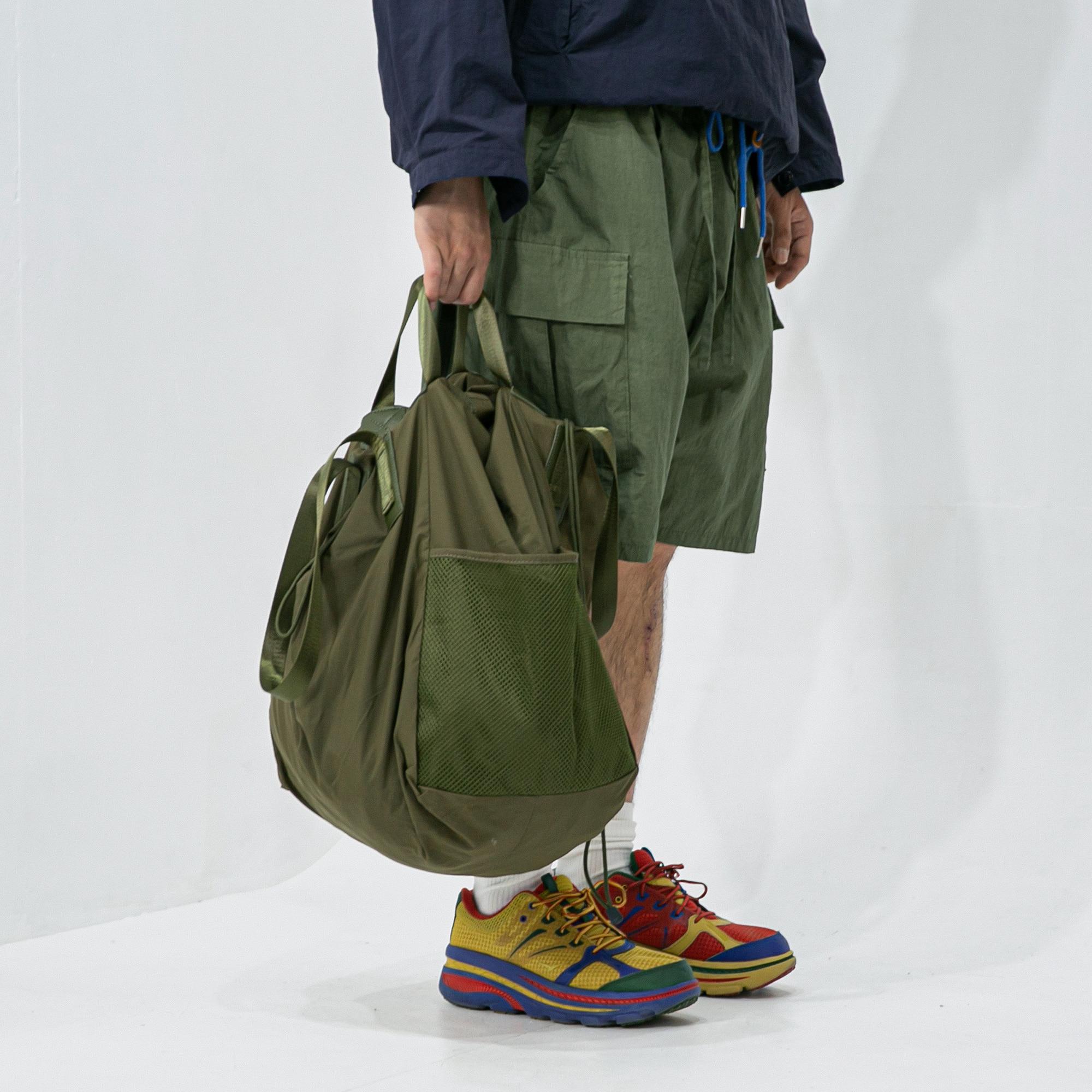 Mesh Double Two way Bag - Khaki