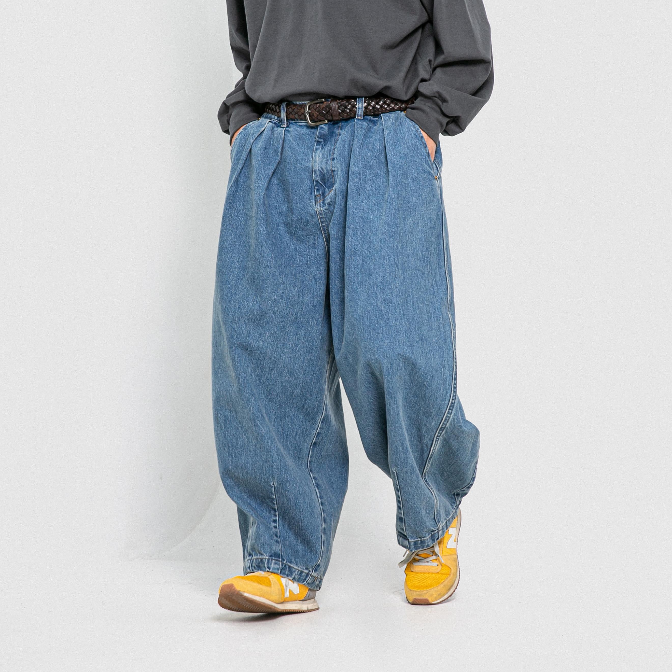 [AG] Stone Vintage Denim Balloon Pants