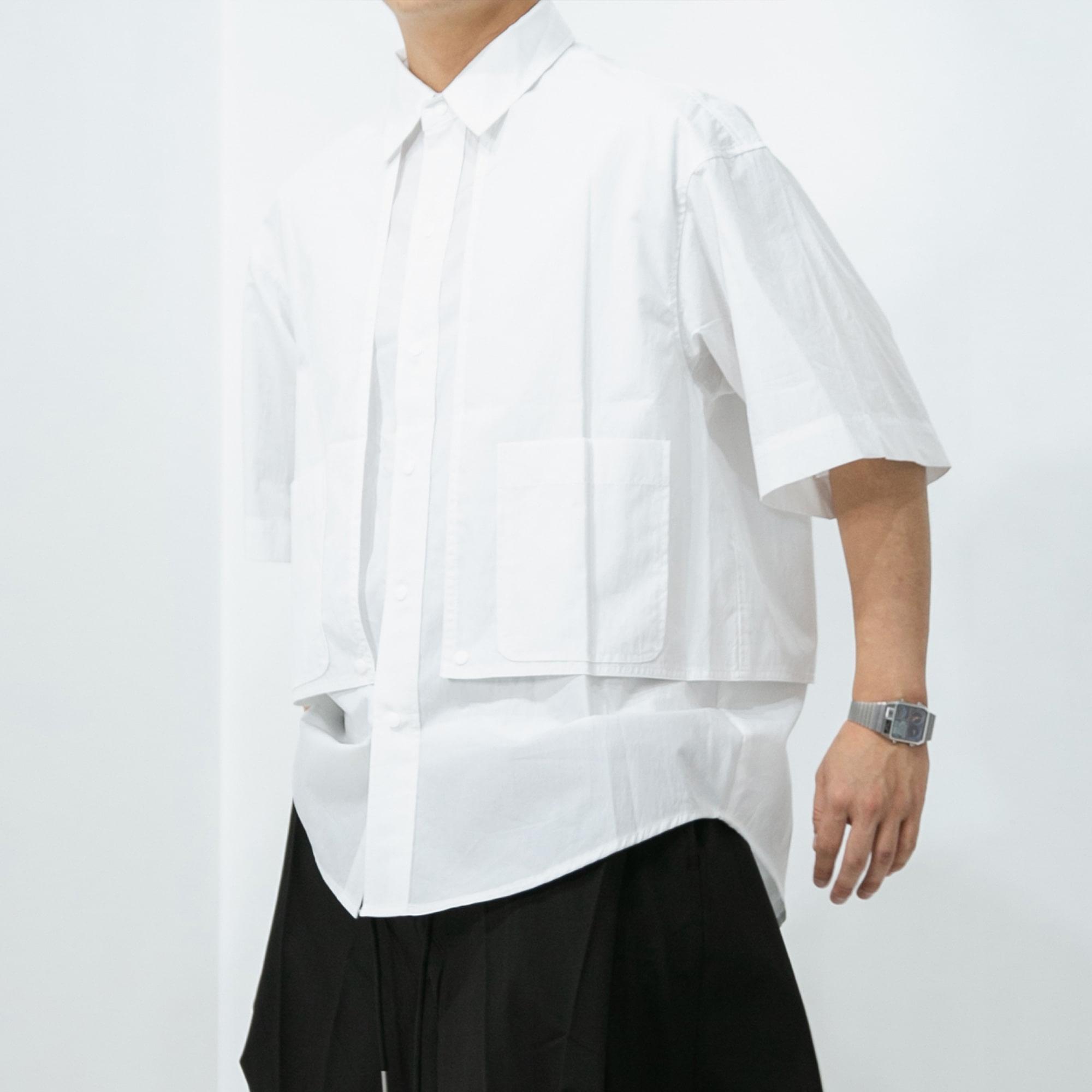 Wing Double Pocket Shirt - White