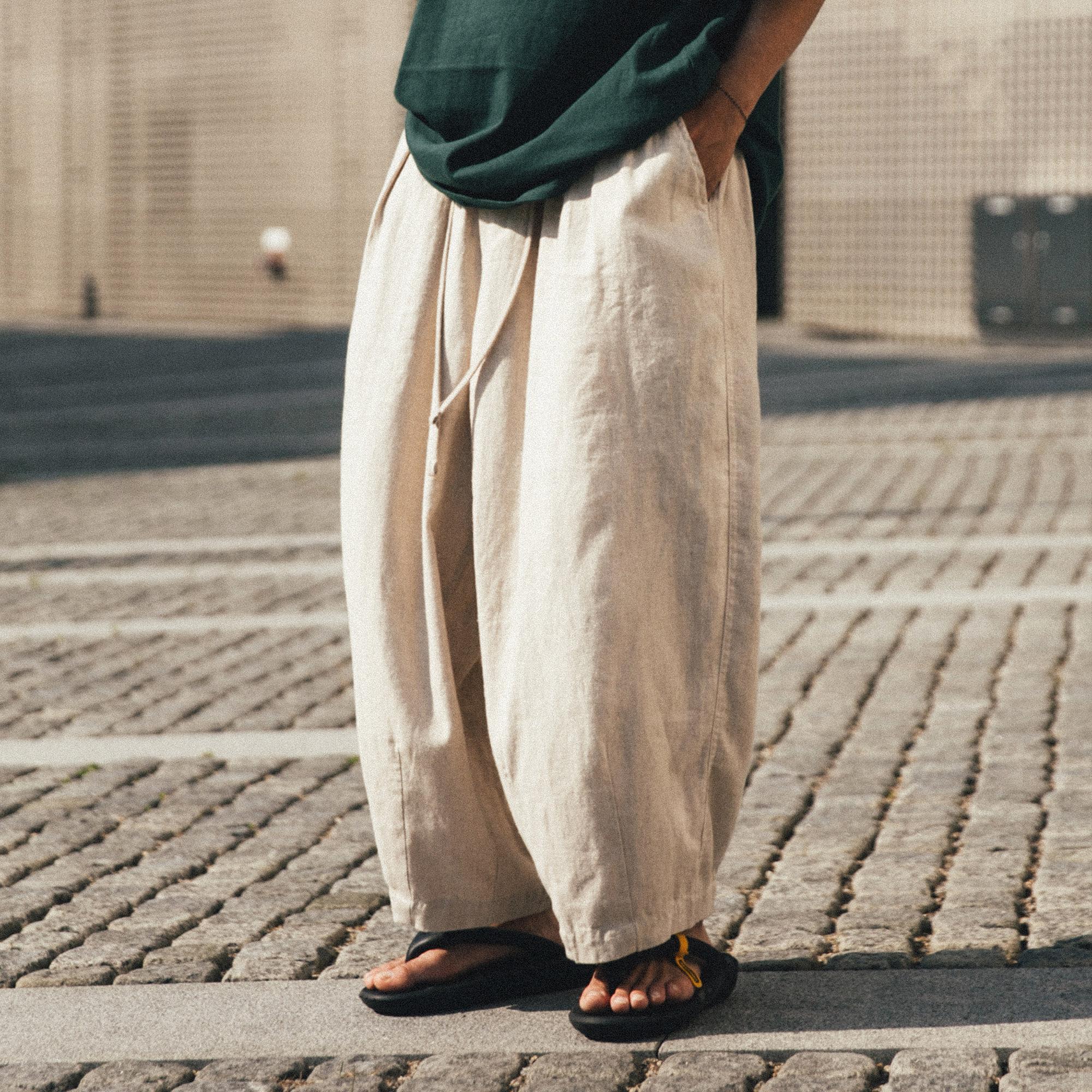 [AG] Hbt Linen Balloon Pants - Ivory