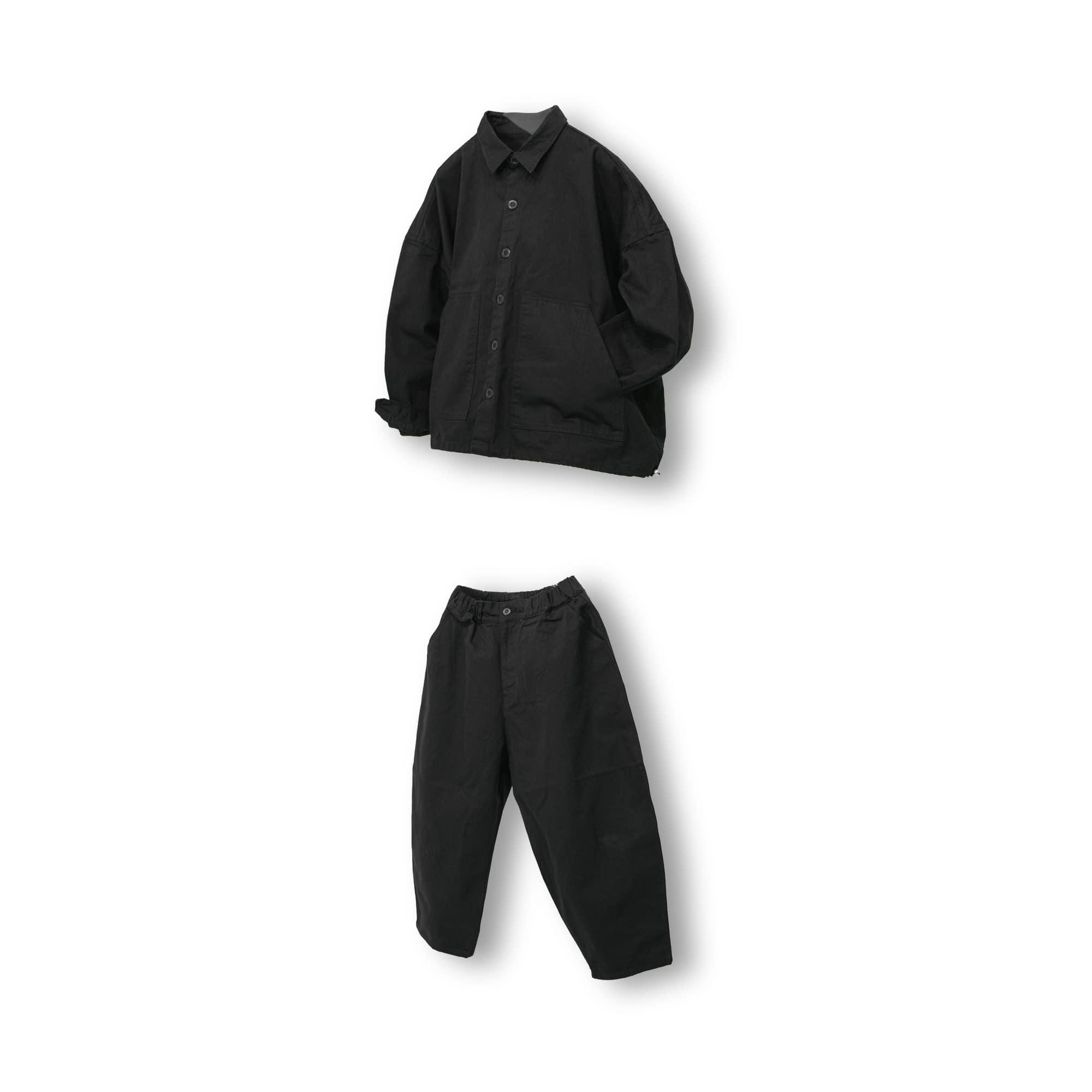 Herringbone Volume Wide Set-up - Black