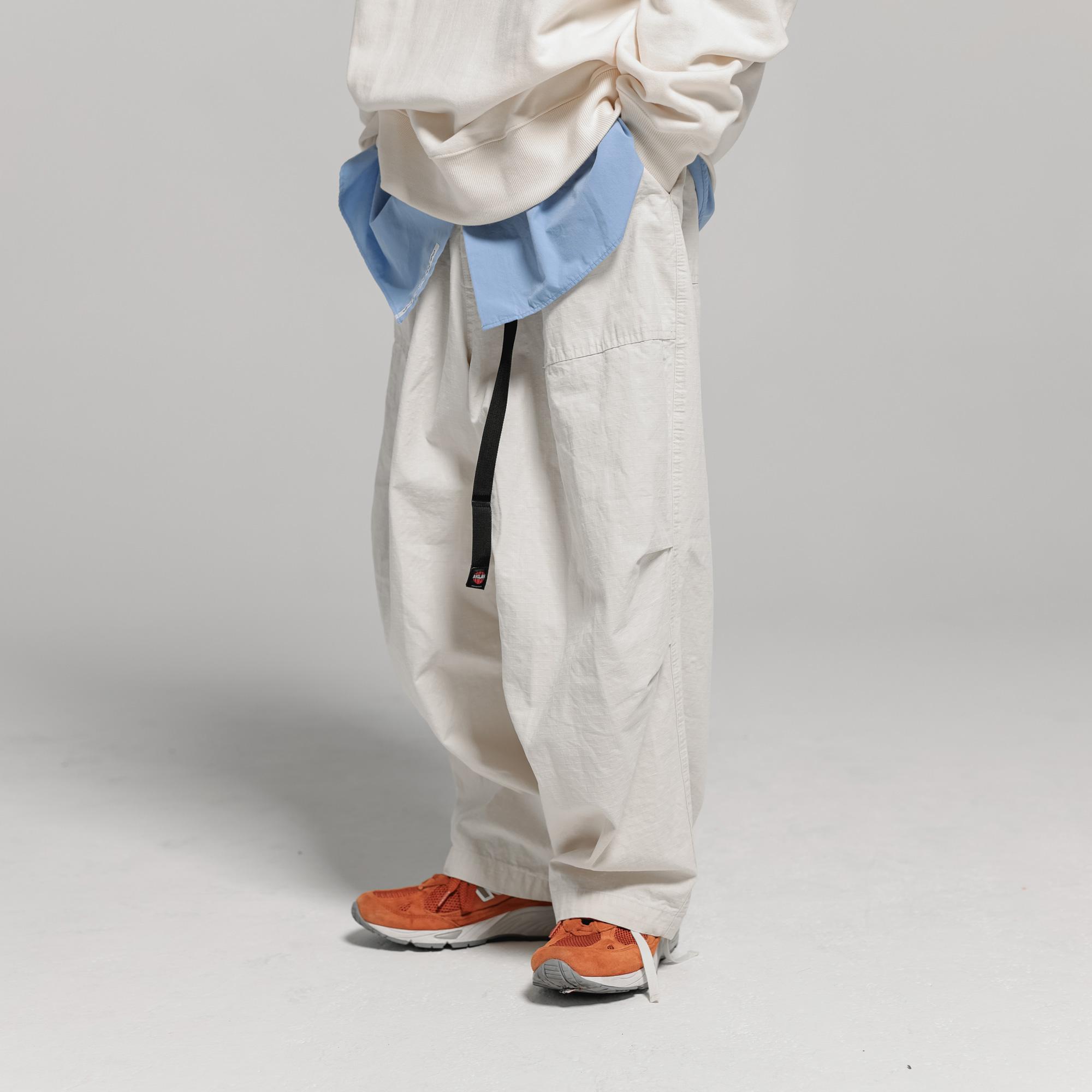 [AG] Fatigue Rib Army Balloon Pants - Ivory