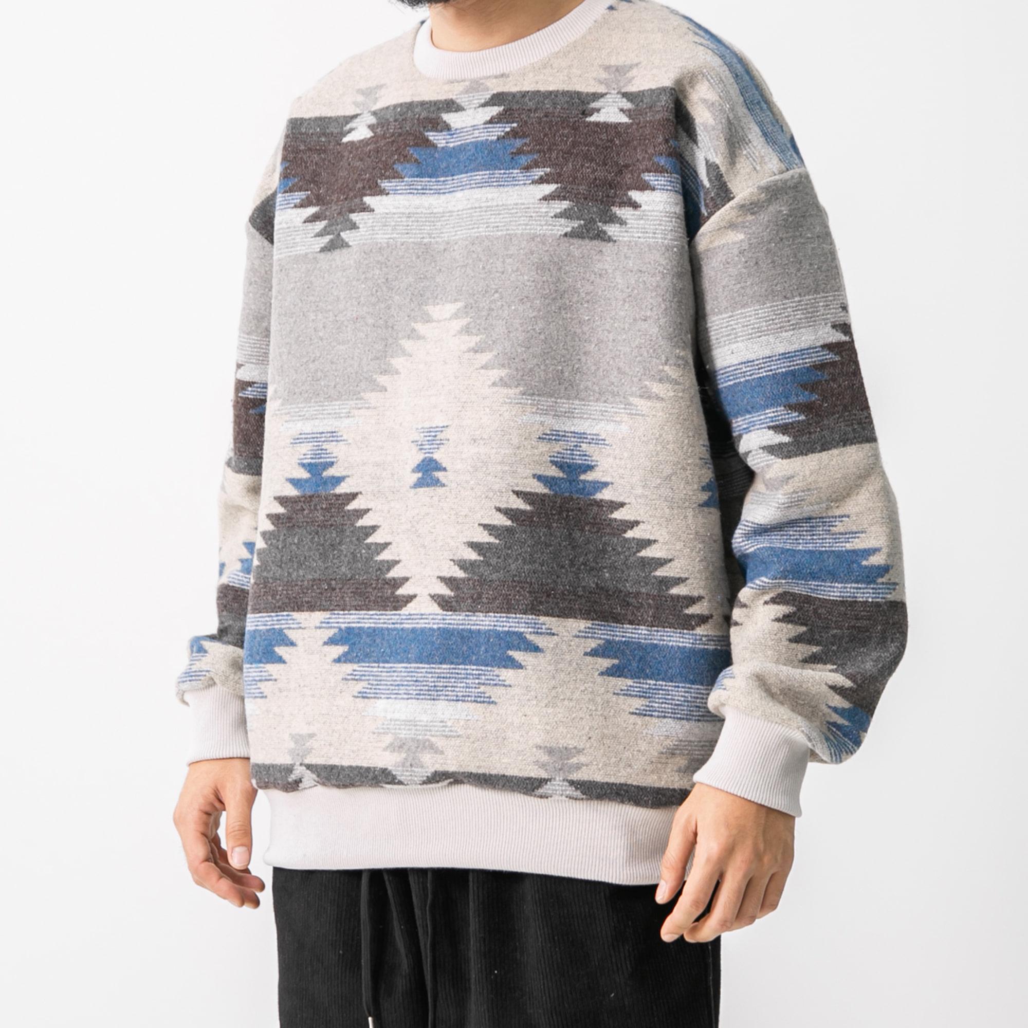 Ethnic Sweat Shirt - Blue