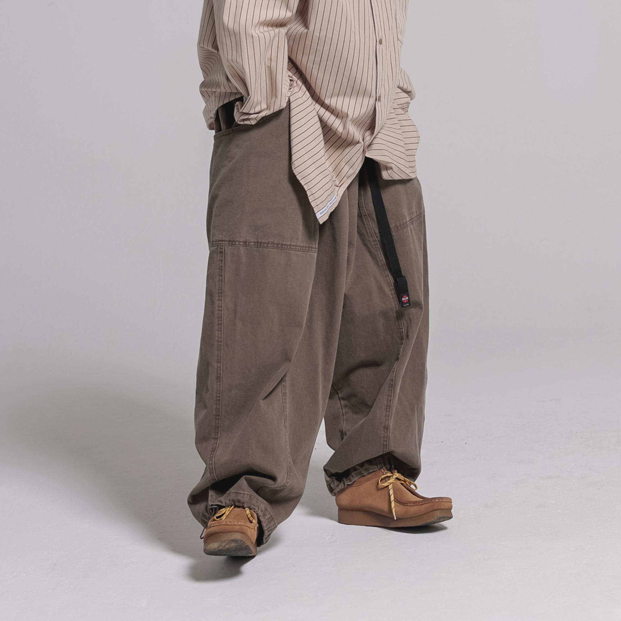 [AG] Layered Pocket Balloon Pants - Brown