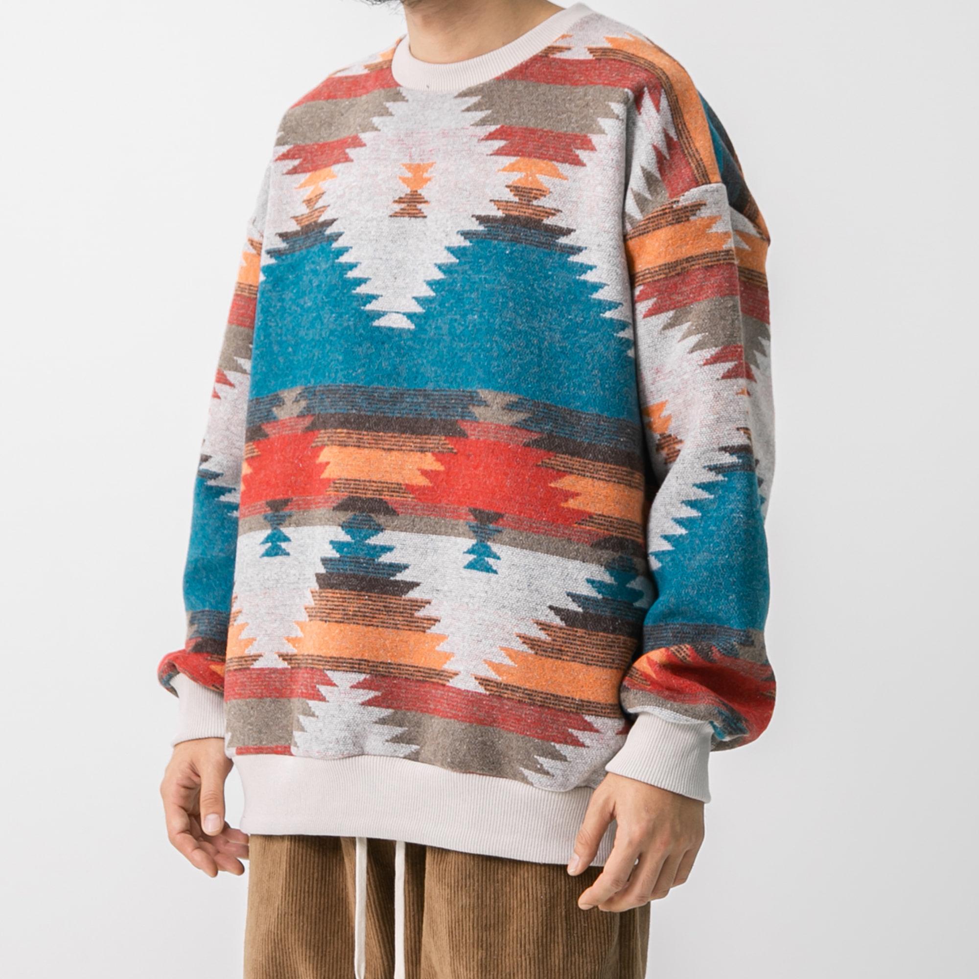 Ethnic Sweat Shirt - Multi