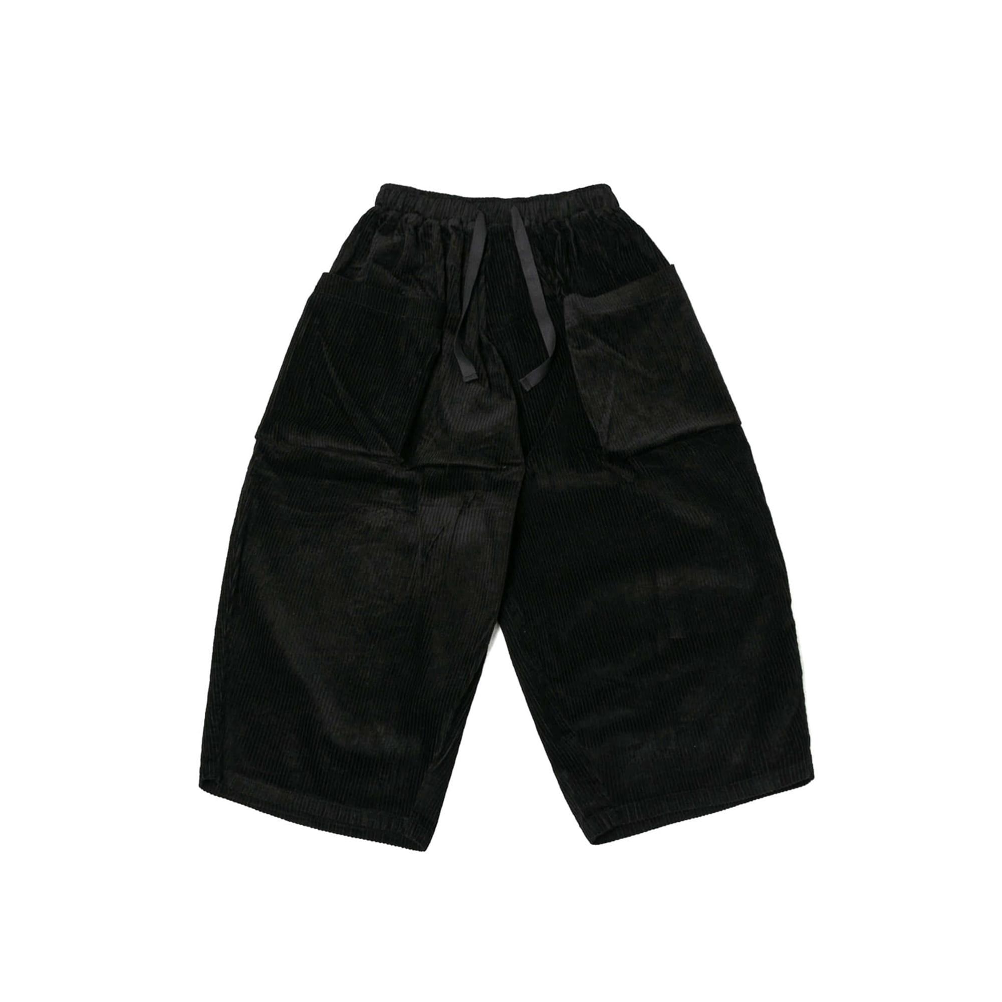 Corduroy Big Pocket Jungle Pants - Black