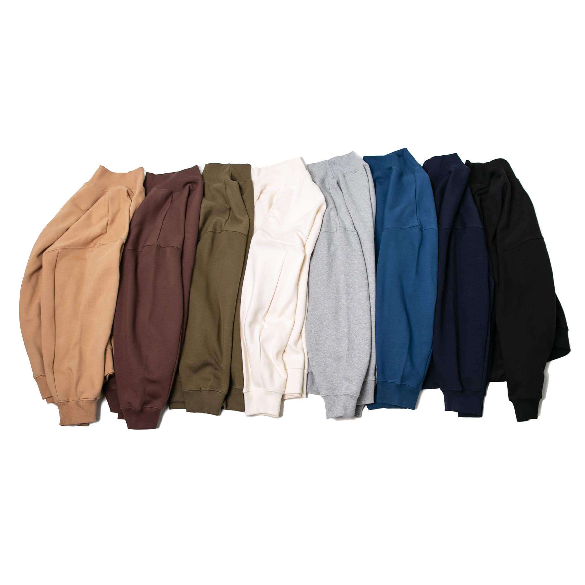 Mock Neck Over Sweat Shirt - 8 color