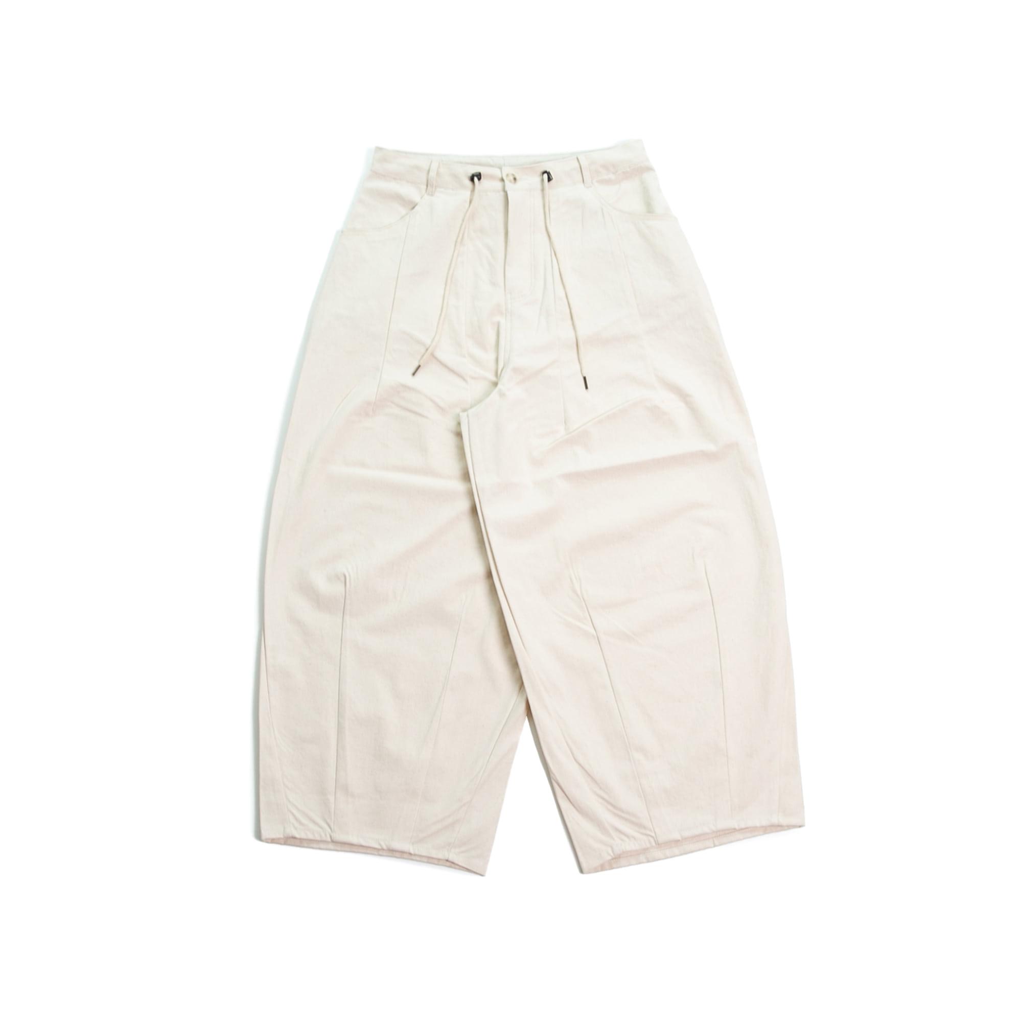 Roof Cotton Balloon Pants - Ivory