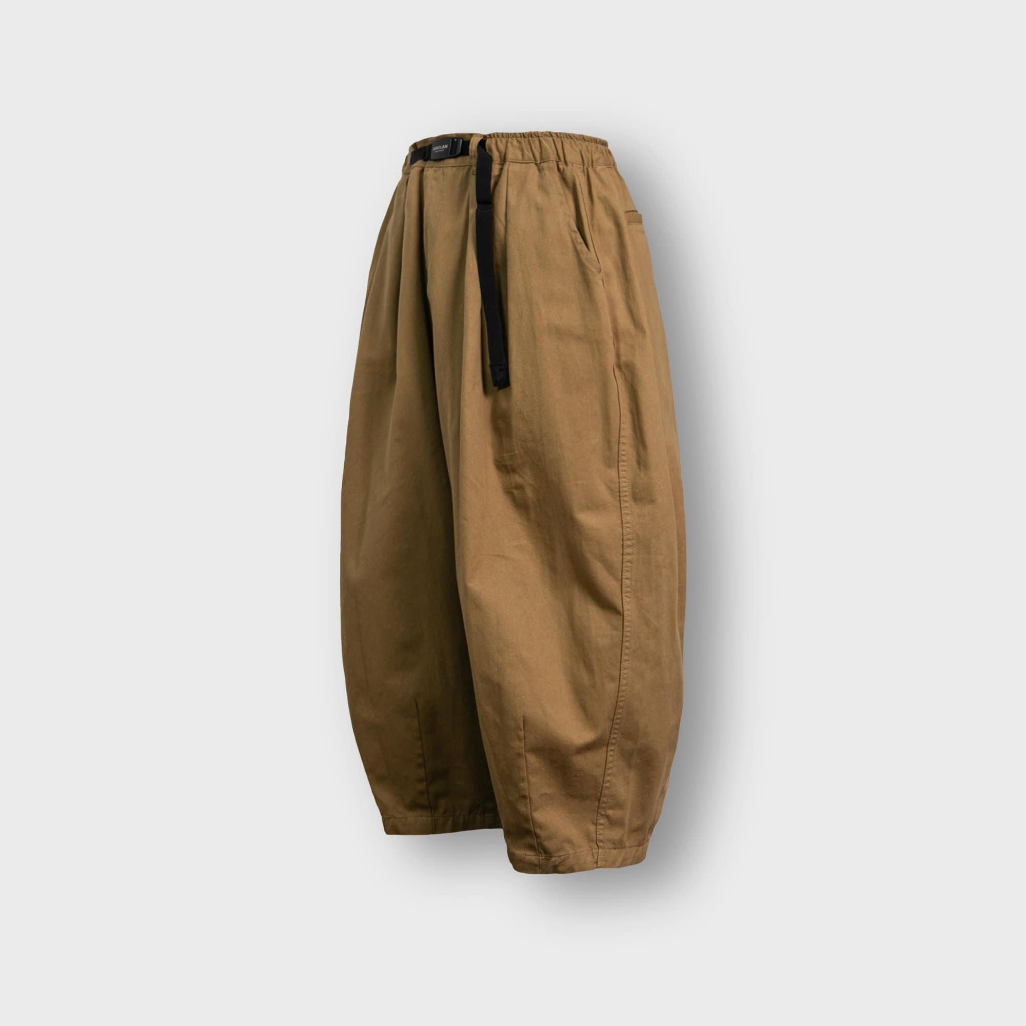 [AG] Twill Cotton Belt Balloon Pants - Beige