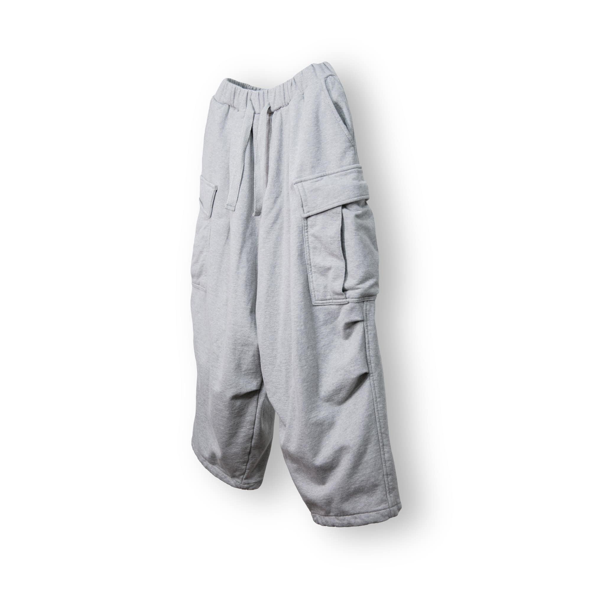 String Cargo Sweat Balloon Pants - Grey