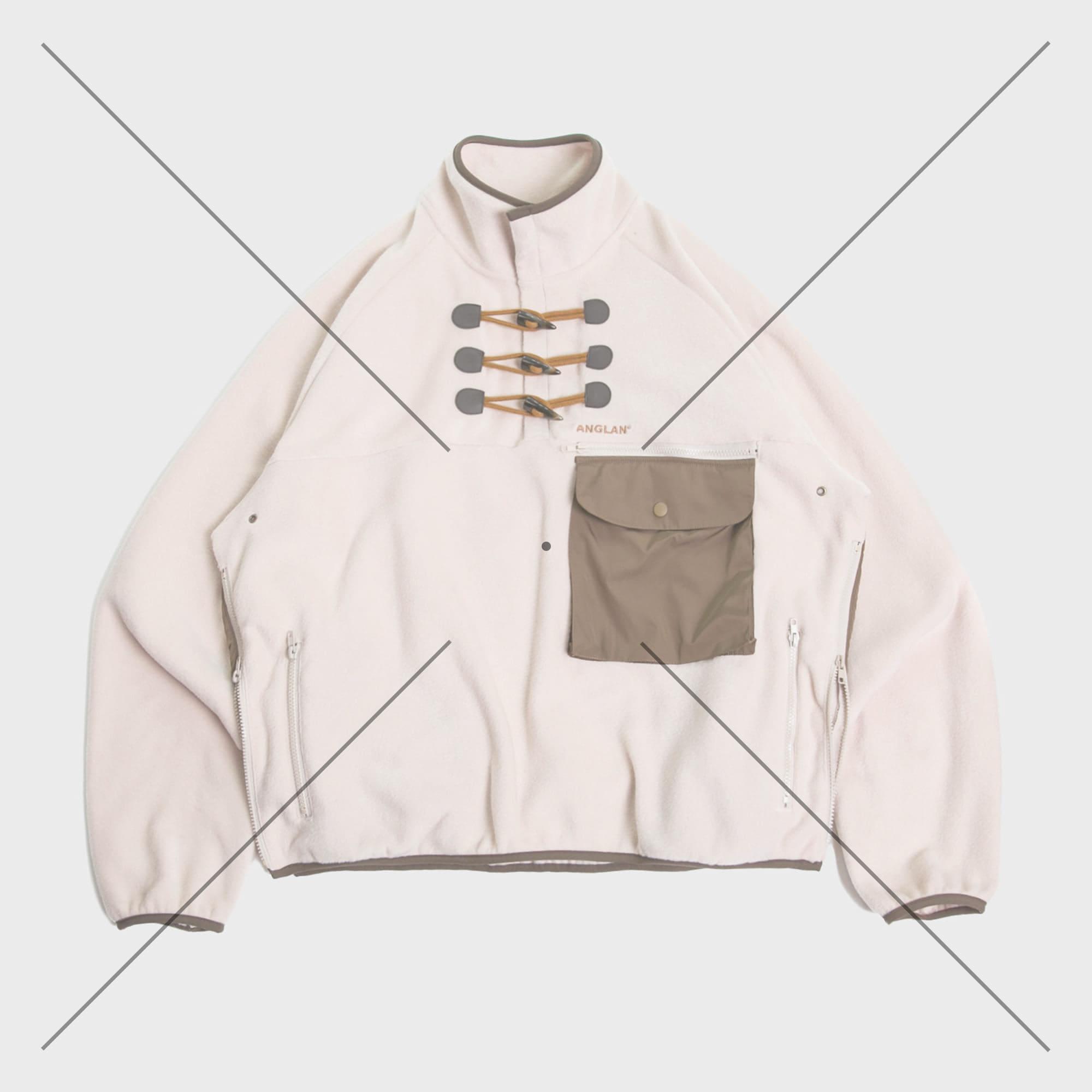 [AG] Utility Toggle Fleece Pull-Over - Khaki