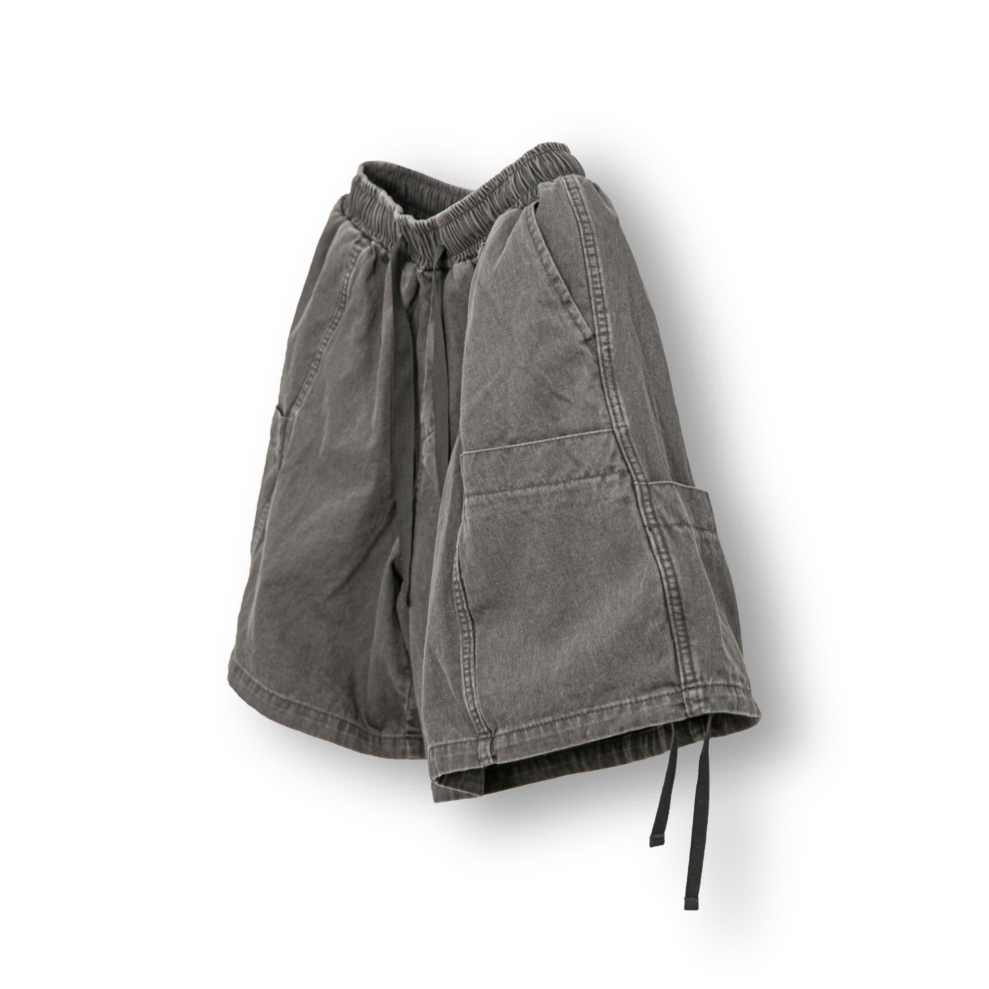 Multi Pocket Strap Half Pants - Charcoal