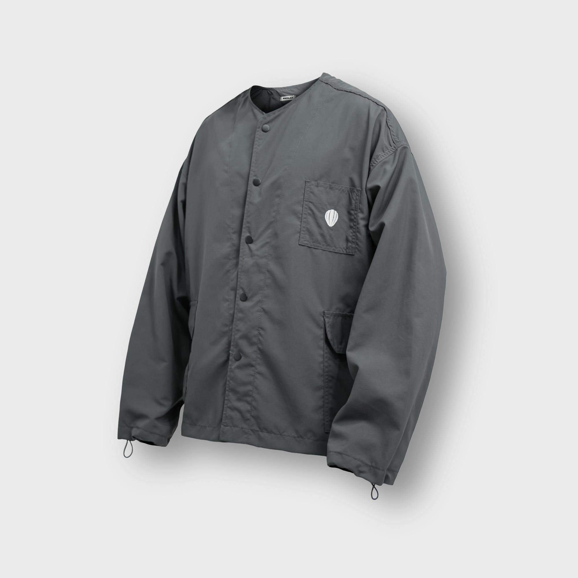 [AG] Rib Nylon Public Jacket - Grey