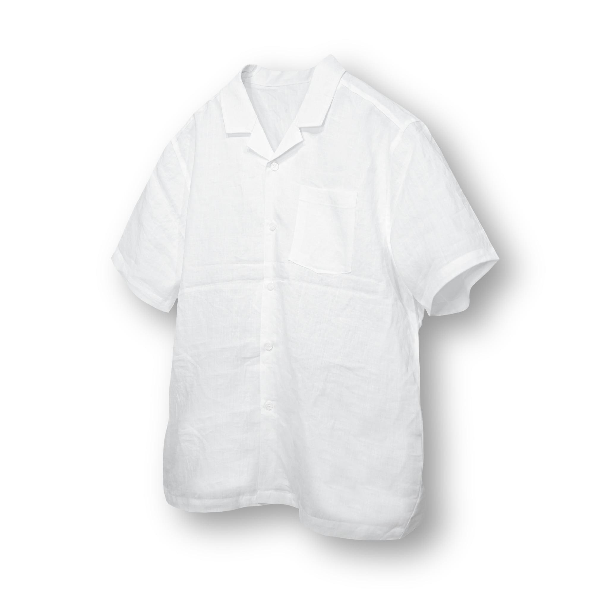 Linen Wide Camp Shirt - White