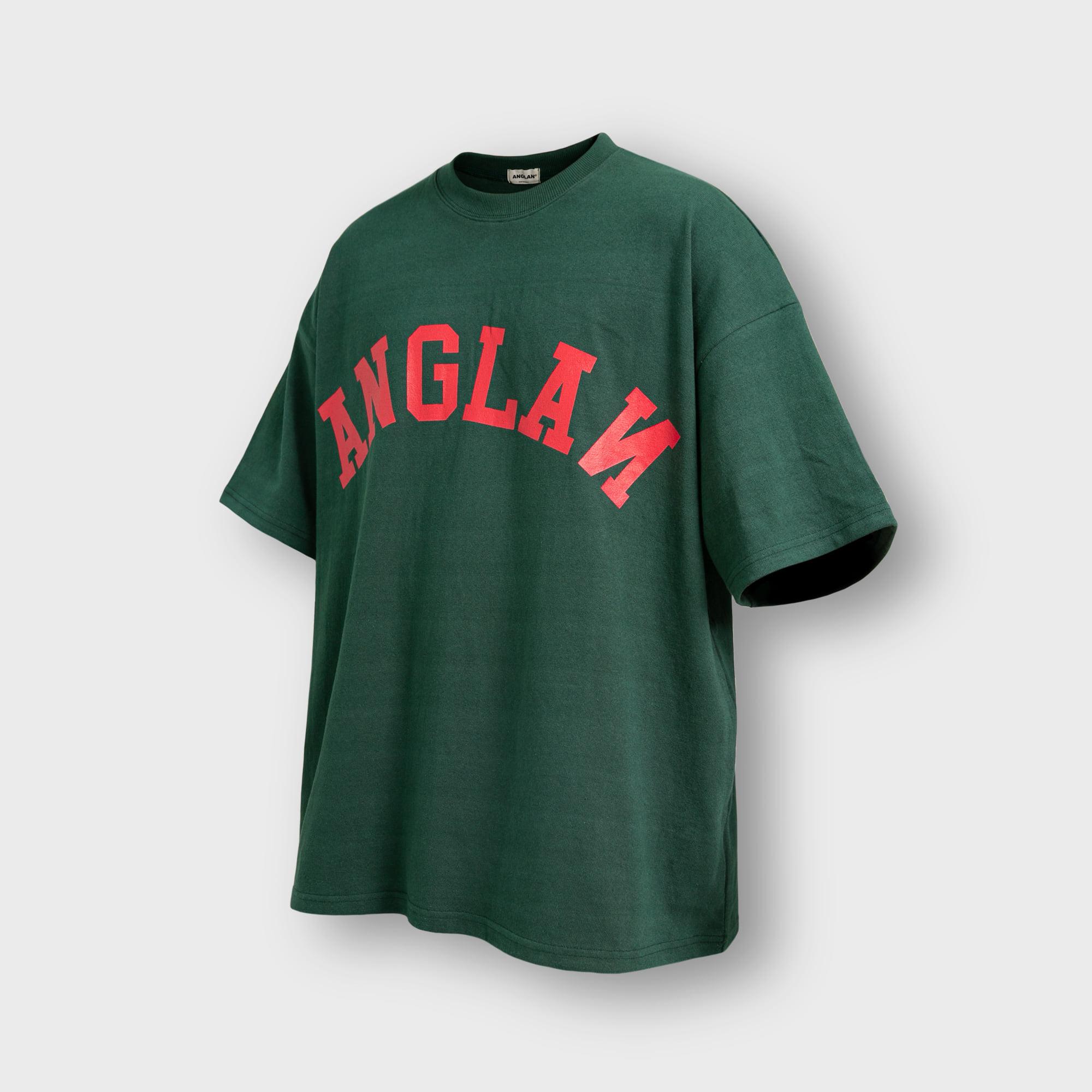 [AG] Big Logo Half Tee - Green