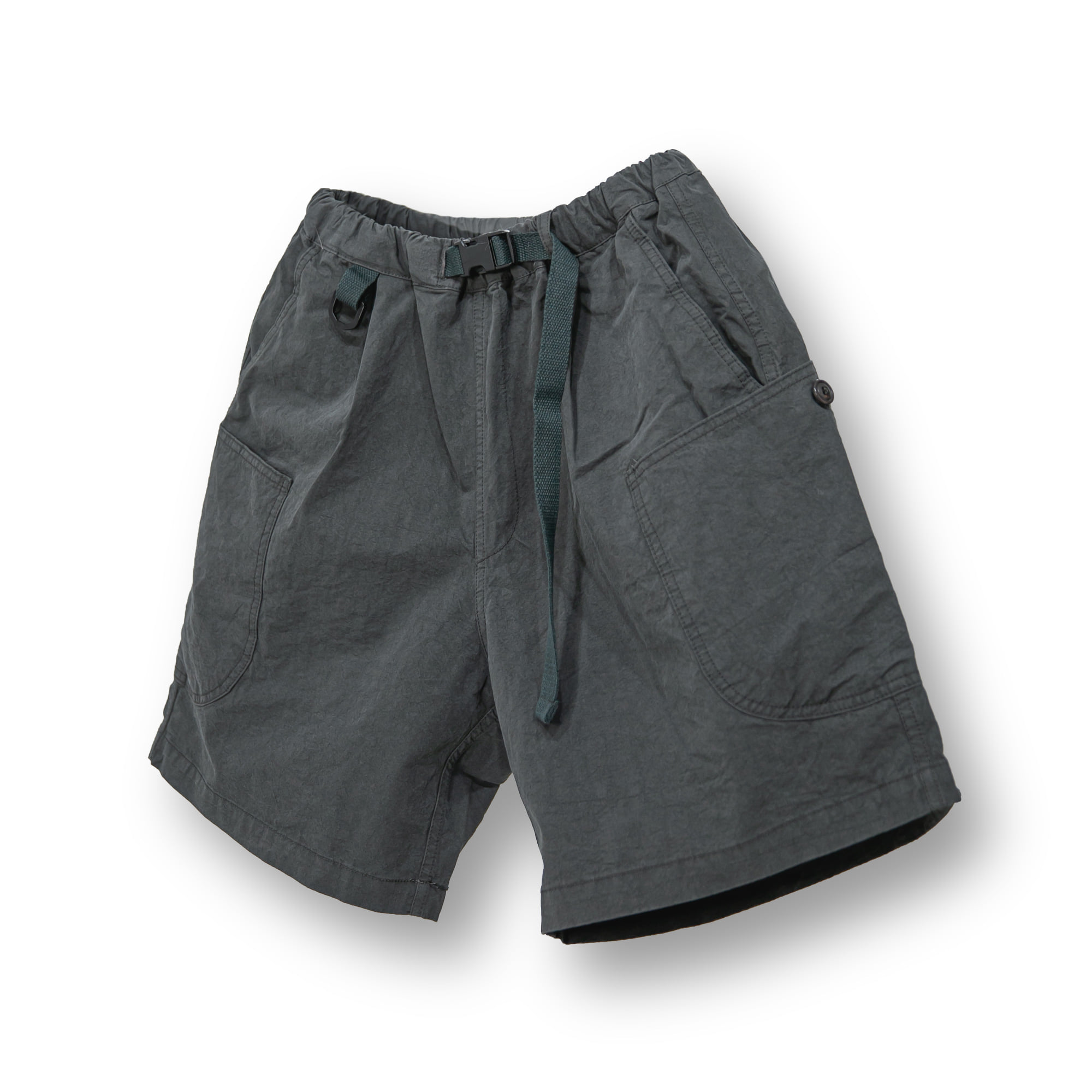 Oblique Cargo Shorts - Charcoal