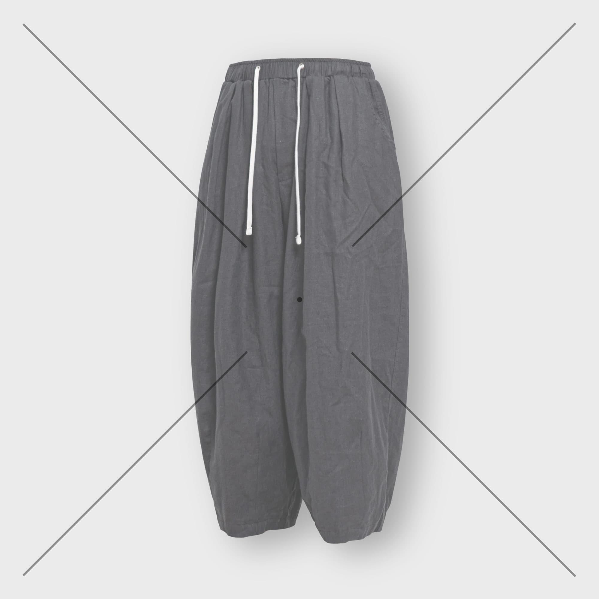 [AG] Hbt Linen Balloon Pants - Charcoal