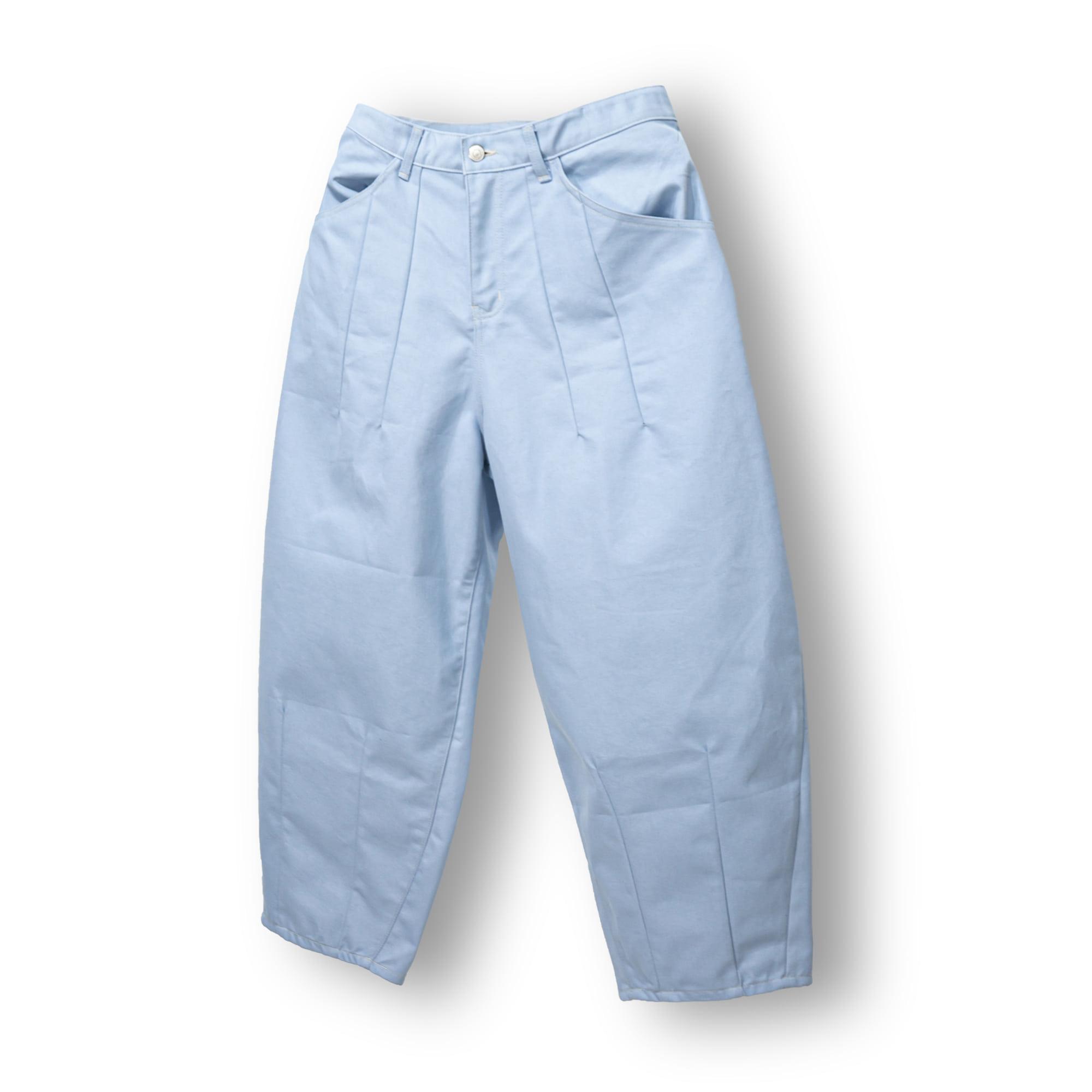 Dart Denim Balloon Pants - Light Blue