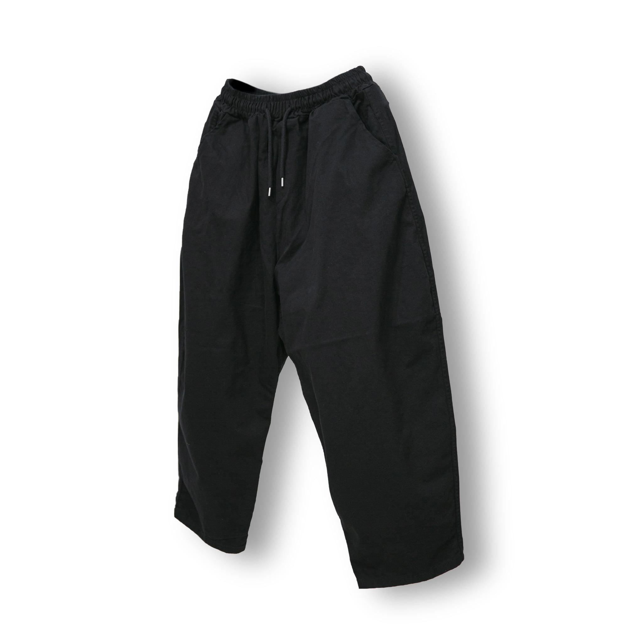 Cotton Sarrouel Banding Pants - Black