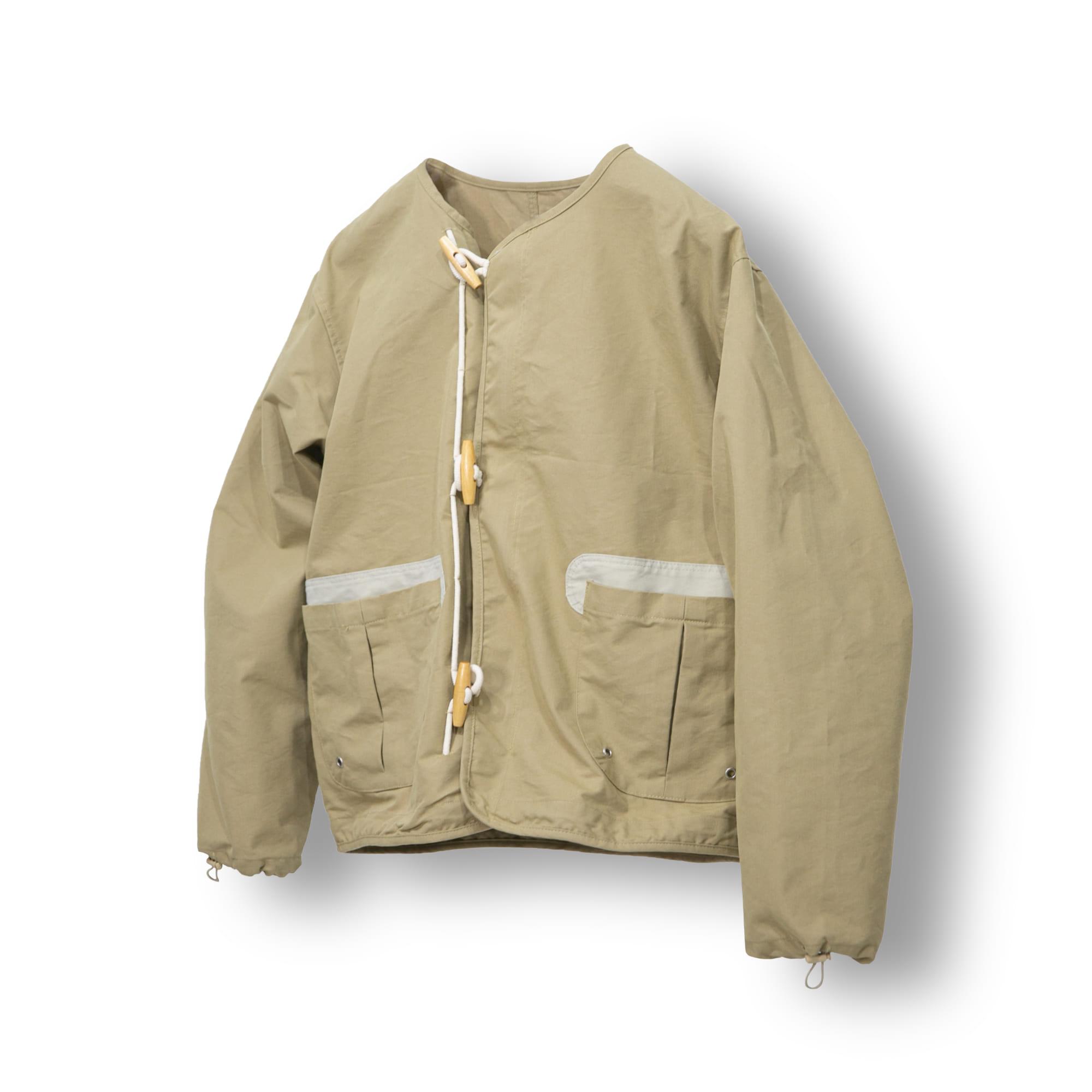 Toggle Hook Double Short Jacket - Beige
