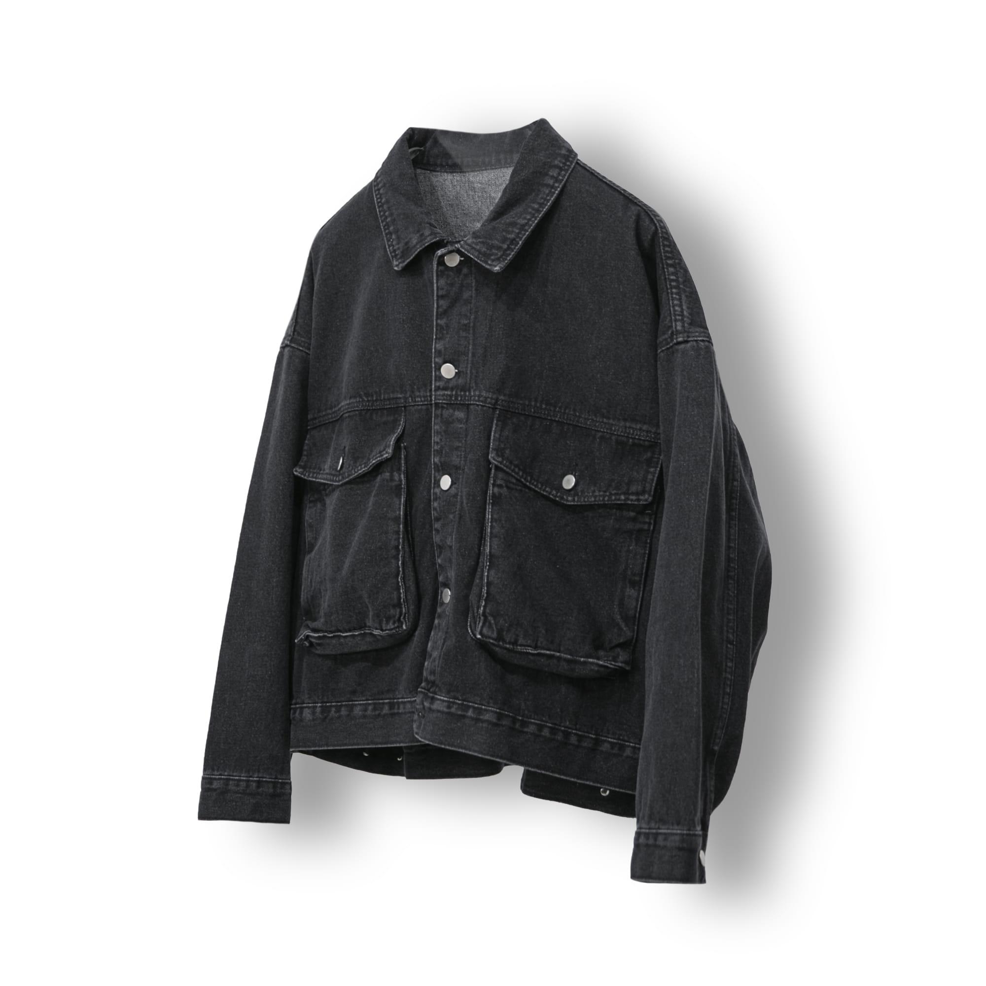 Big Pocket Denim Trucker Jacket - Grey